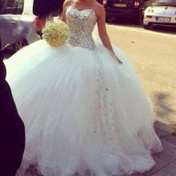 Crystal Bodice Wedding Gown: Aliexpress.com : Buy Amazing Ball Gown Sweetheart Silver