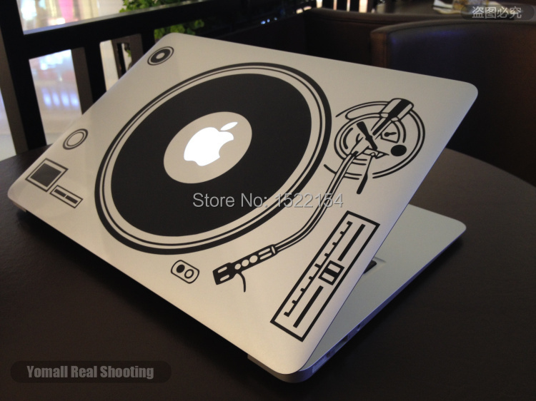 Dj Technics Deck Record Player Laptop Sticker For Macbook