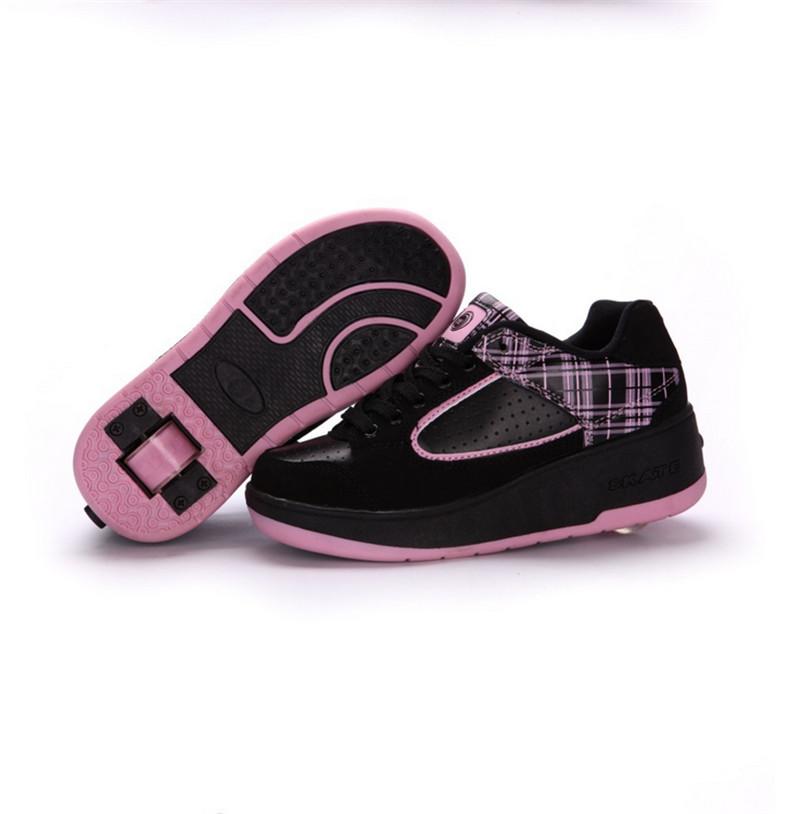 Child heelys Jazzy Junior girls boys heelys roller skate shoes for children kids sneakers with wheels