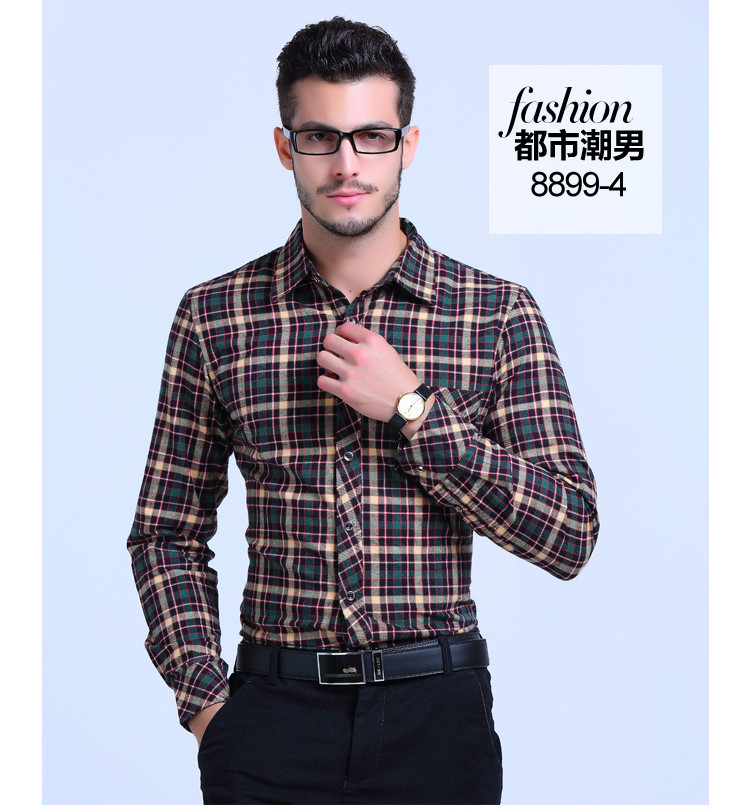 a26631bf16 2018 Men Shirt Casual Plaid Shirts Long Sleeve Slim Fit Soft Flannel Cotton  Checkered Tops Shirt In A Cage Leisure Male Clothes From Bida Josh, ...