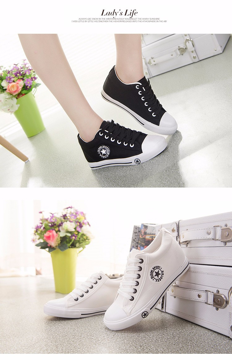 68cd294355897 ... Summer Sneakers Wedges Canvas Shoes Women Casual Shoes Female Cute  White Basket Stars Zapatos Mujer Trainers ...