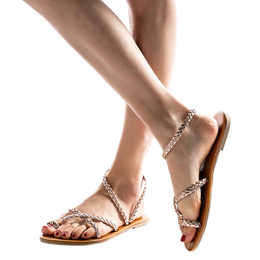 ec46fb2cc5b1 MUQGEW Summer Gladiator Sandal Flat Sandals Summer Shoes Woman Flat ...