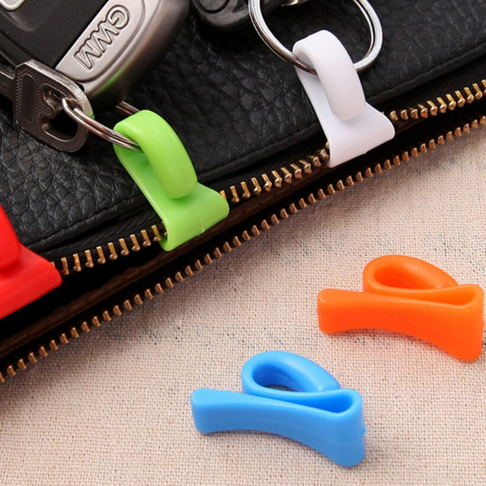 2pcs Home Plastic Novelty Mini Cute Creative Anti-lost Hook Within The Bag Key Storage Holder Rack Robe Hooks Bathroom Hardware At Any Cost Home Improvement