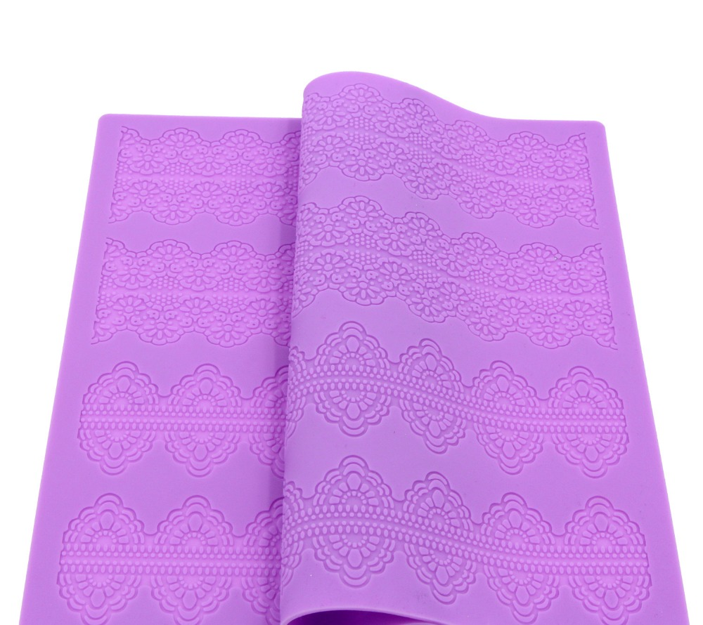 Large Silicone Lace Molds For Cake Decorating