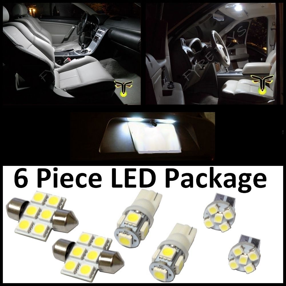 Free shipping 6 white led interior lights package t10 - 2013 toyota tacoma interior accessories ...