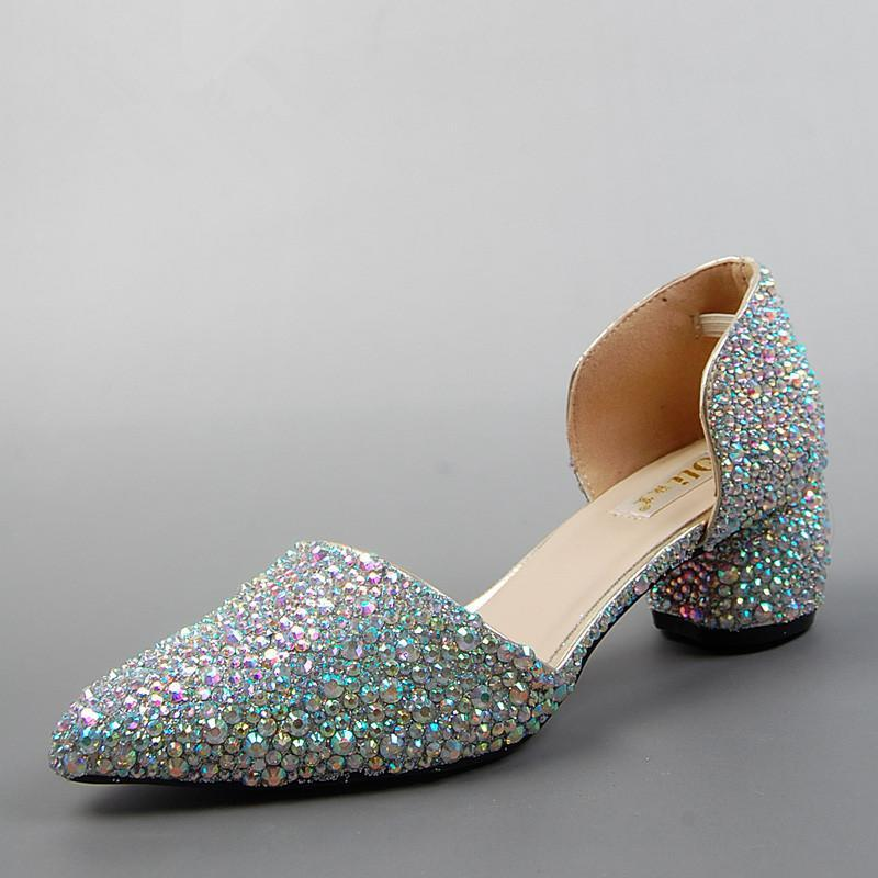 2015 New Wedding Shoes Fashion Rhinestone Dress Shoes