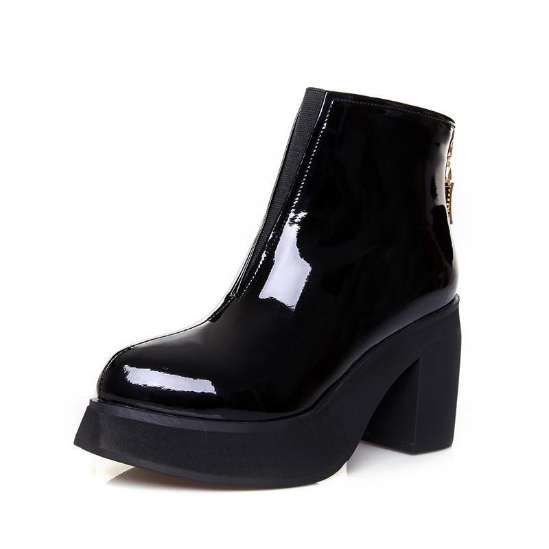 sitio web para descuento reunirse forma elegante botas de chanol con platanorma