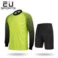 EU Men Football Goalkeeper Jersey Long Sleeve Training Suit Sponge Protector Soccer Goal Keeper Uniforms Set