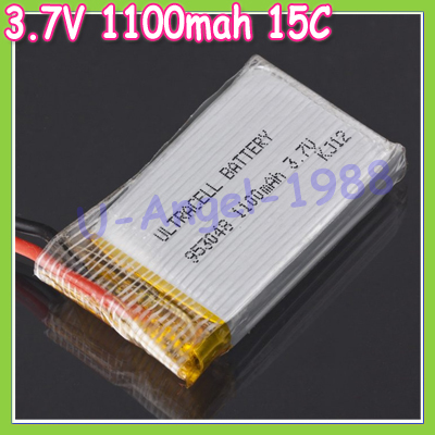 3pcs/lot 3.7V 1100mah 15C 1S VOLT 20C Lipo Battery Akku For RC Helicopter+free shipping