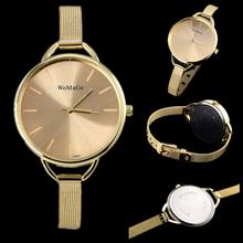 Luxusní dámské hodinky zlaté a stříbrné s úzkým páskem z Aliexpress