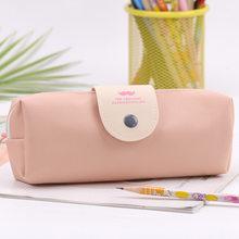 1 шт. корейский конфетных оттенков чехол для карандашей из искусственной кожи водостойкая школьная сумка для карандашей для девочек Канцто...(Китай)