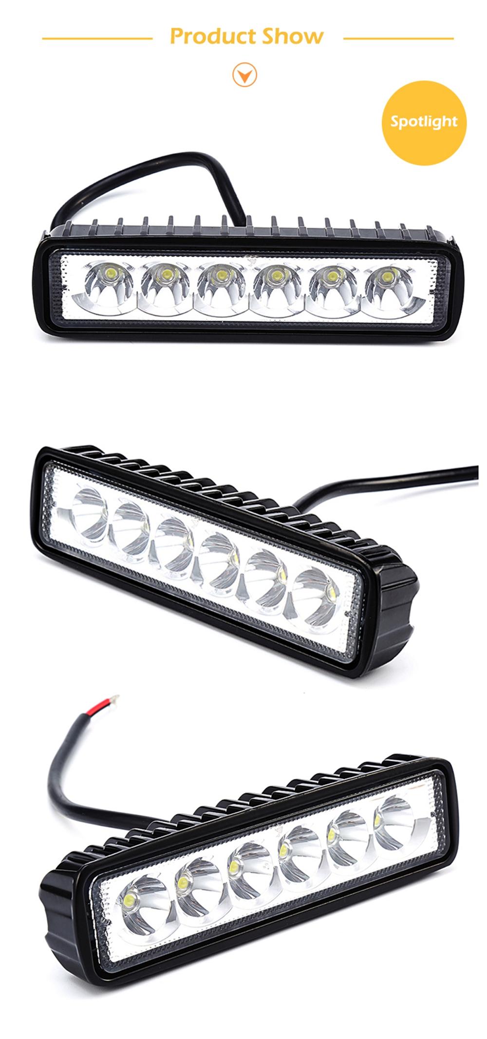 New 18w 12v Led Work Light Bar Spotlight Flood Lamp