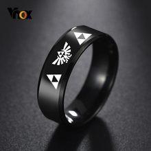 Vnox, Крутое кольцо с китайским драконом для мужчин, персонализированная гравировка, 8 мм, Черная Нержавеющая Сталь, панк, мужской Анель, подар...(Китай)