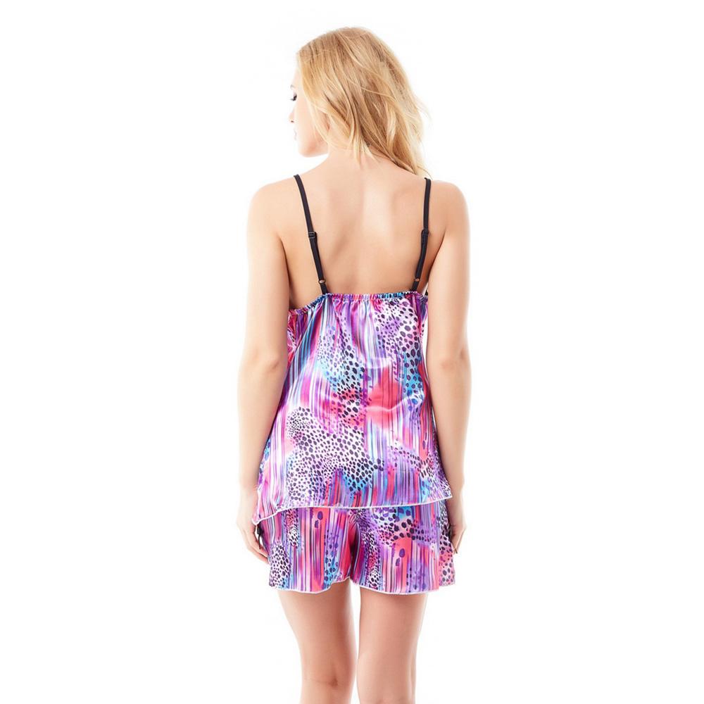 Women  s Silk Pajamas Set Satin Sleepwear Sling Shorts Two-piece ... cd301c390