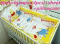 Promotion 6PCS 100 cotton Baby bedding sets piece set crib set 100 cotton Crib goods include