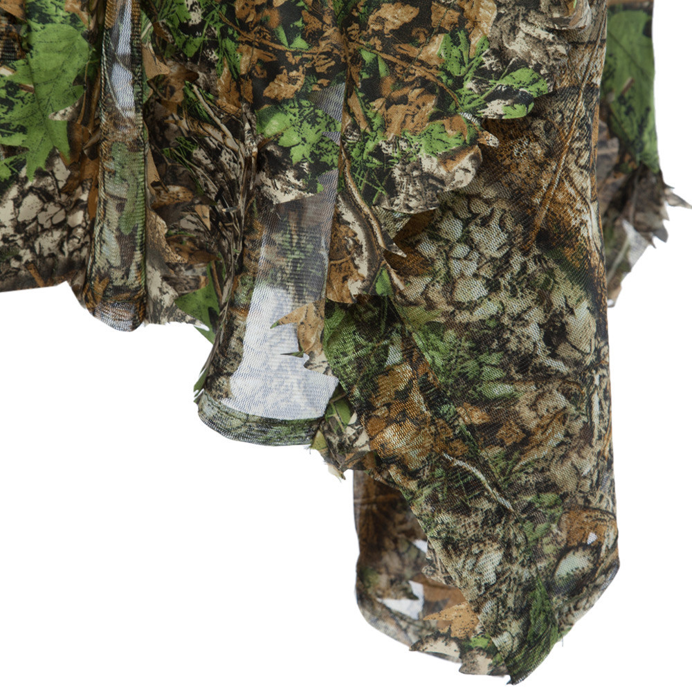 d97d3995abc 1.5m 3D Hunting Camouflage Ghillie With Cap Suit Clothes Jungle Cloak  Poncho Camo Bionic Leaf For Sniper Photography UK 2019 From Fopfei