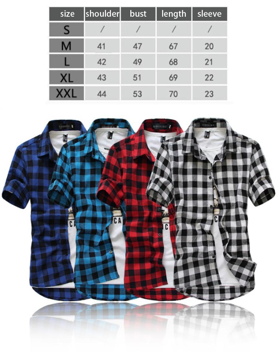 1d8cbe5883 Men Plaid Shirt 2018 Brand Fashion Korean Wild Short Sleeve Shirt ...