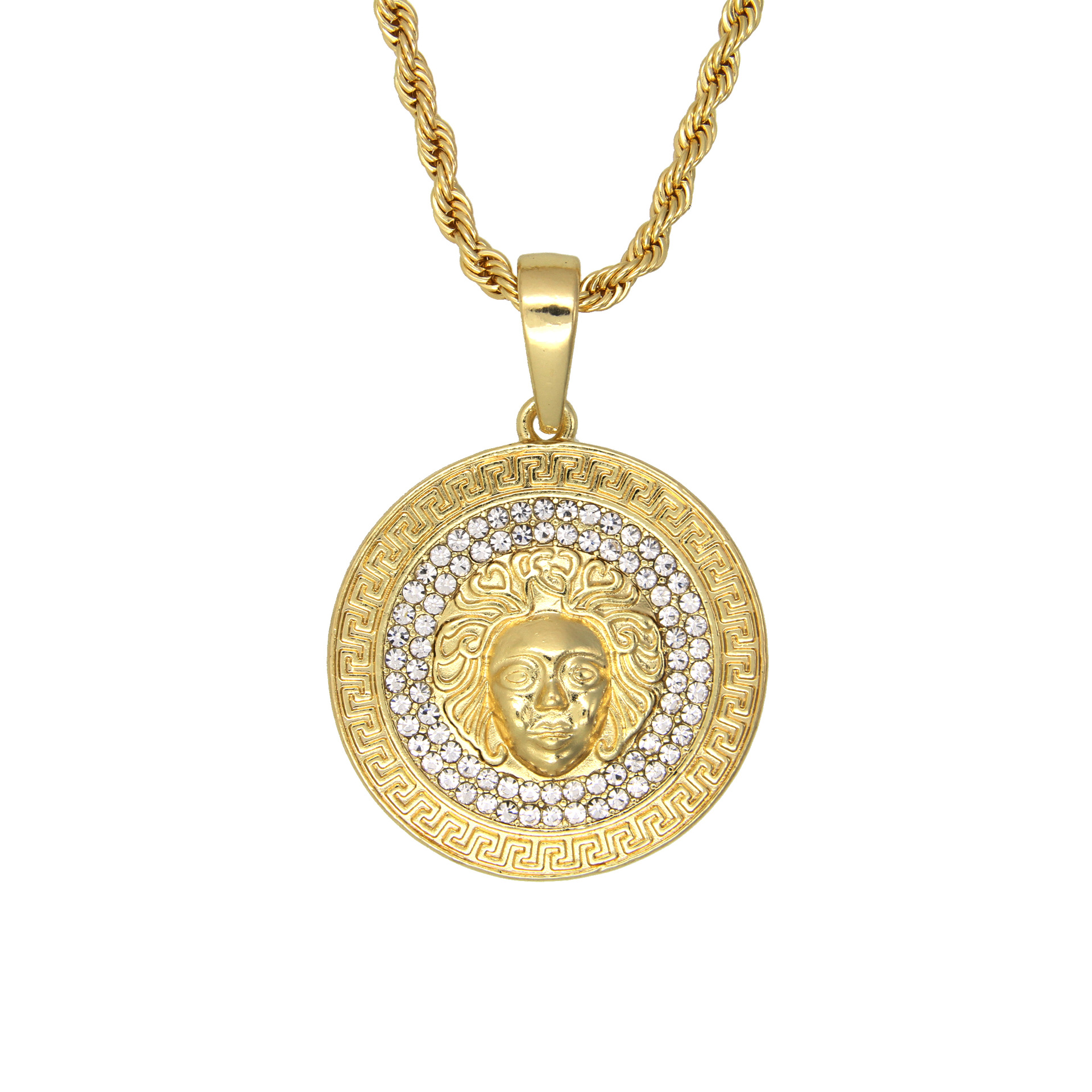 Popular Mens Gold Medallion Necklace-Buy Cheap Mens Gold ...