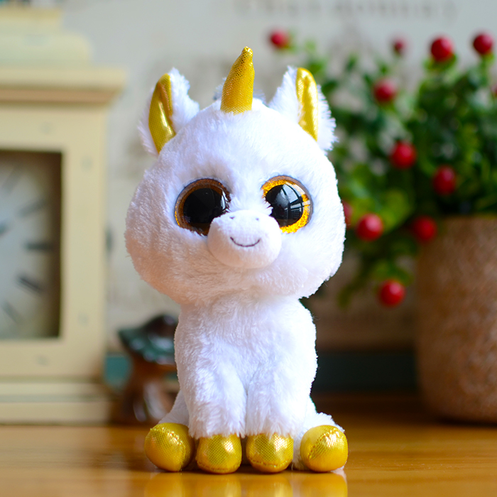 Stuffed Squirrel Animals, Ty Beanie Boos Kids Plush Toys Big Eyes White Unicorn Lovely Children Gifts Kawaii Stuffed Animals Dolls Cute Christmas Present Kids Toys Bajby Com Is The Leading Kids Clothes Toddlers