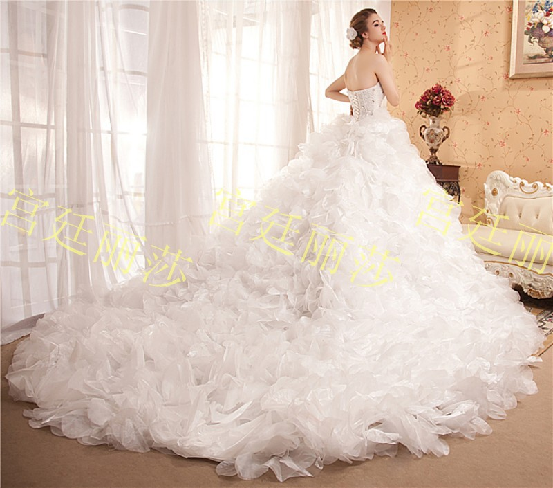 Real Photoes!! Best Selling Crystal Diamond Ball Gown Long ...