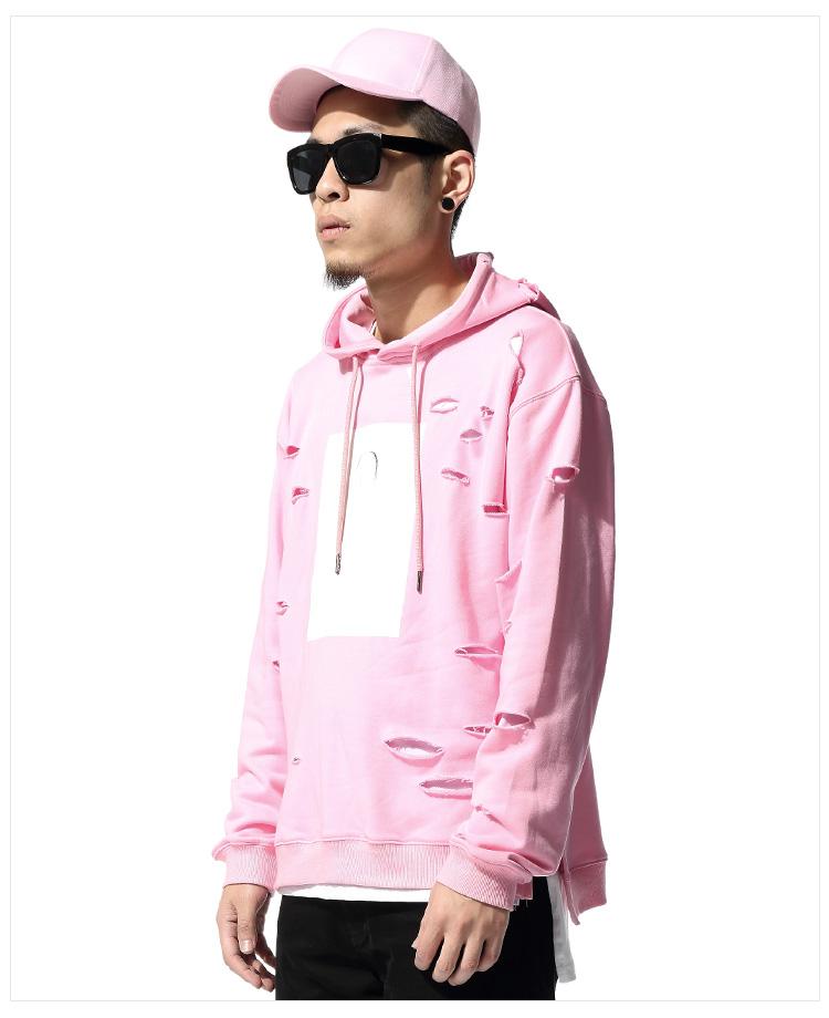 Pink hoodie for men