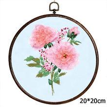Вышивка лентами для начинающих, наборы для рукоделия, вышивка крестиком, цветные цветы, настенное искусство, домашнее украшение, наборы для ...(Китай)