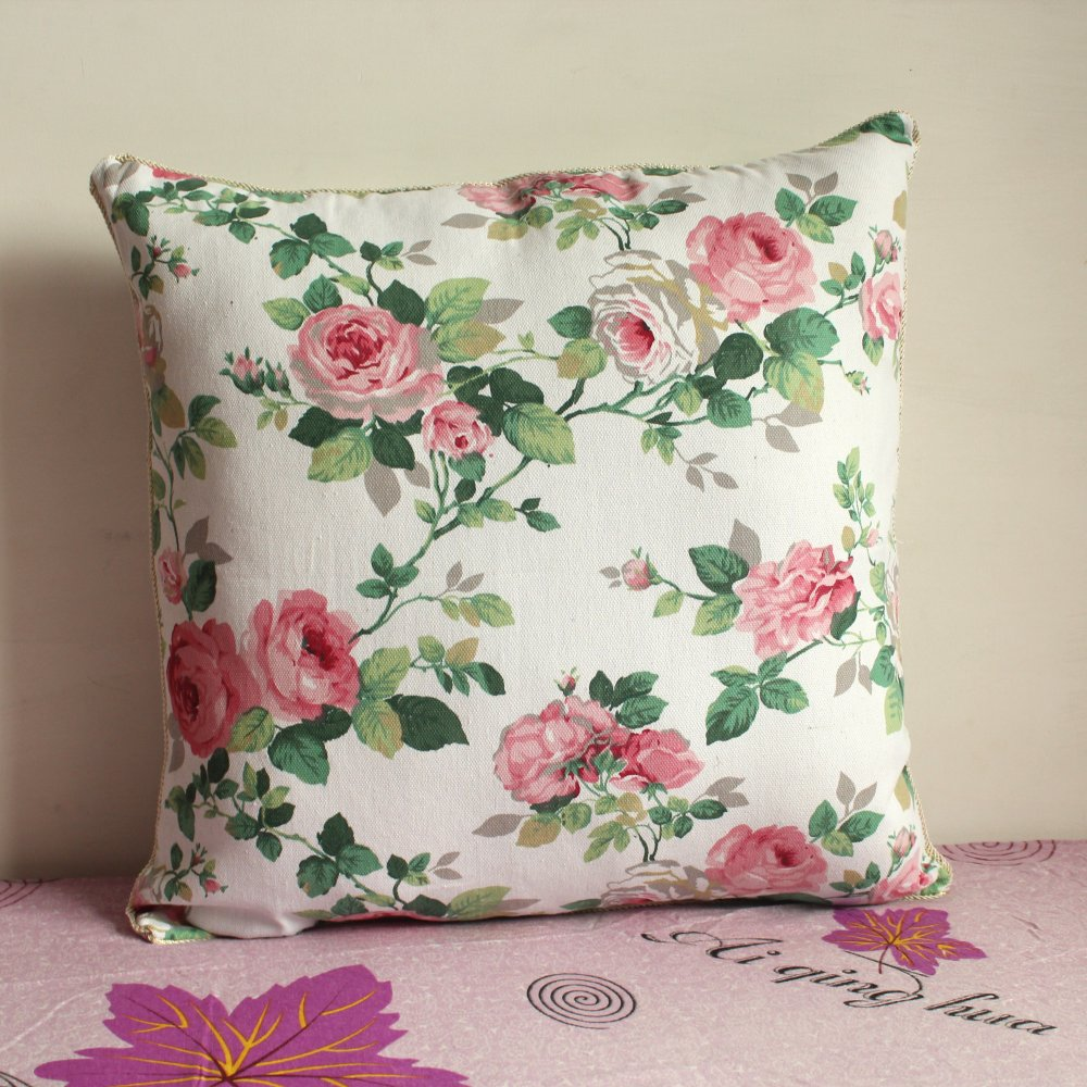 pillowcase 1pcs 19 inch 50cm 50cm beautiful floral cloth pillow cover wholesale p25 in pillow. Black Bedroom Furniture Sets. Home Design Ideas