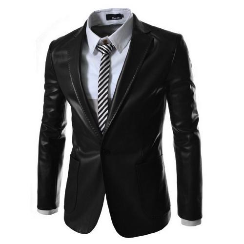 Compra chaqueta de cuero de los hombres online al por