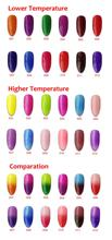 Free shipping 12pcs VOG Fashion Chameleon Temperature Change Gel Inail Polish 15ml 12 beautiful Colors for
