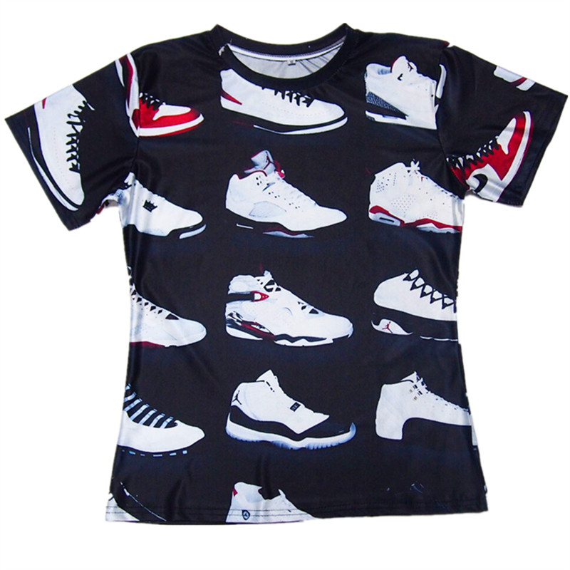 62c9782871bd JORDAN 23 Classic Shoes 3D Printed T shirts Hip Hop Funny Men s T Shirt  Summer Pure American Special Cut Tees Tshirt Homme on Aliexpress.com