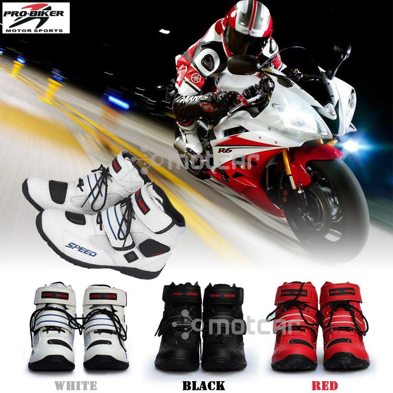 bottes de moto pro motard vitesse moto racing motocross moto chaussures quipement de protection. Black Bedroom Furniture Sets. Home Design Ideas