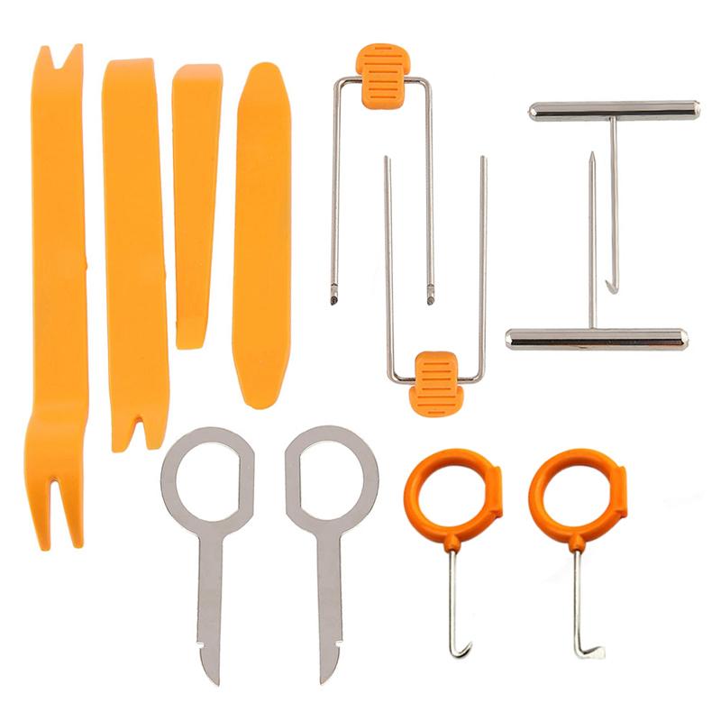 12 шт. набор инструментов двери автомобиля easy-демонтаж радио интерьер пластиковые панели приборов снятие установка прай стерео ремонт ремонт