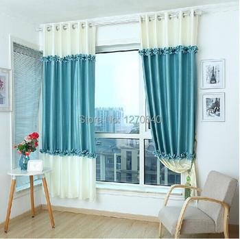 rideaux de luxe pour chambre salon de haute qualit chic 100 blackout rideau bleu paon tissu. Black Bedroom Furniture Sets. Home Design Ideas