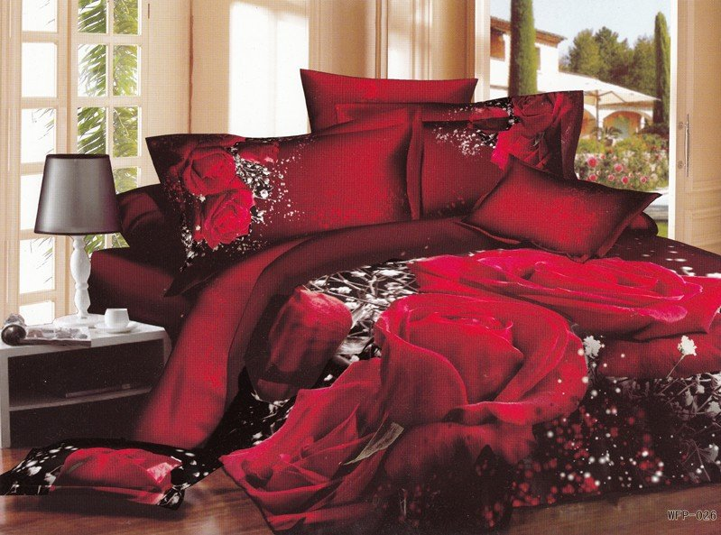 Hot-Fashion-New-Beautiful-100-Cotton-4pc-Doona-Duvet-QUILT