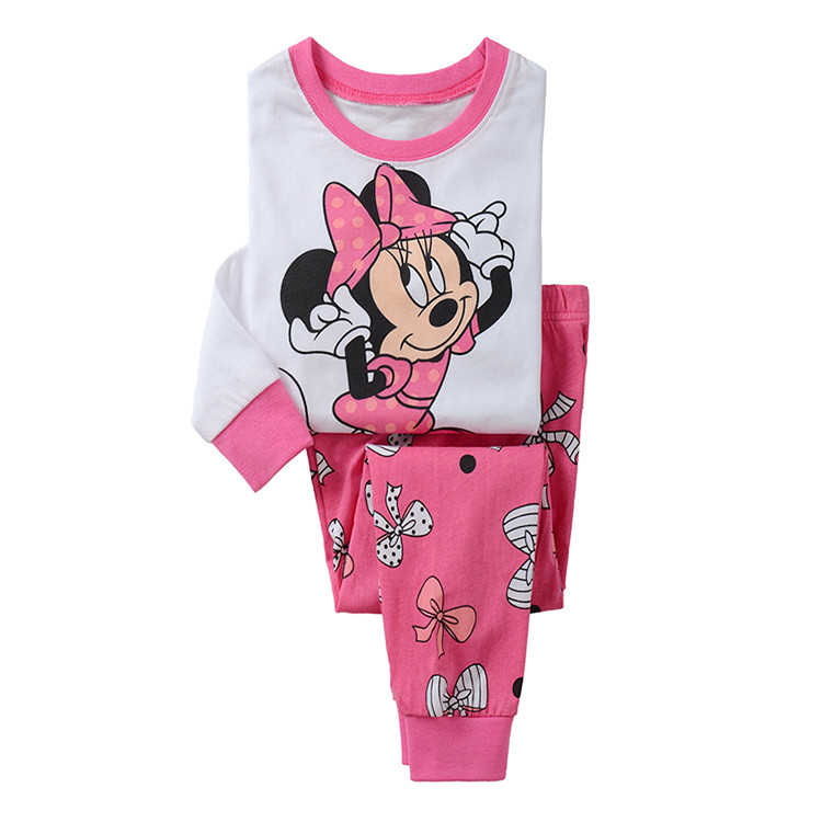 Baby Girl Kids children pajama Sets Cartoon Mouse nightwear Sleepwear pyjamas Clothing set home family Christmas