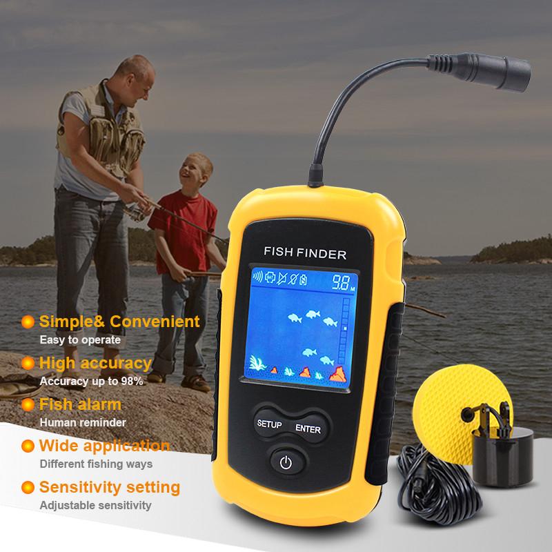 Fishing Finder Display 2018 Marine GPS Alarm 100M Portable Sonar LCD High  Definition Fish Finders Fishing Lure Echo Sounder