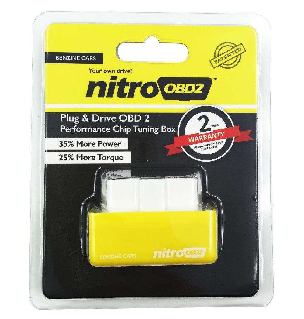 Nitroobd2 бензин гараж чип тюнинг плагин и привод OBD2 чип тюнинг коробка получить больше / больше крутящего момента