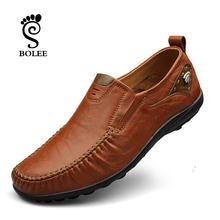 Top quality men flats 100% leather shoes handmade men Moccasins,men flat shoes plus size men loafers