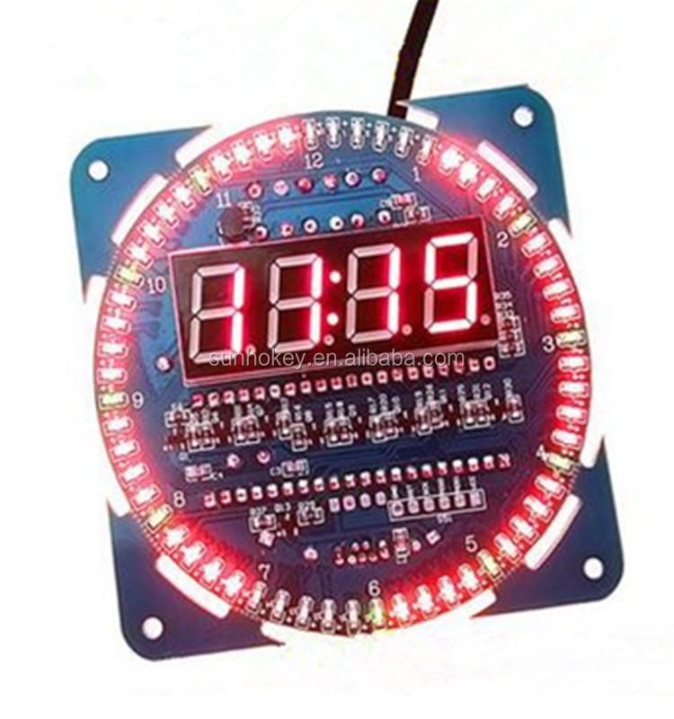 Ds1302 Rotating Led Display Temperature Alarm Digital