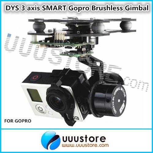 DYS 3 Axis SMART Gopro Brushless Gimbal W/Motor & Gimbal Controller For DJI