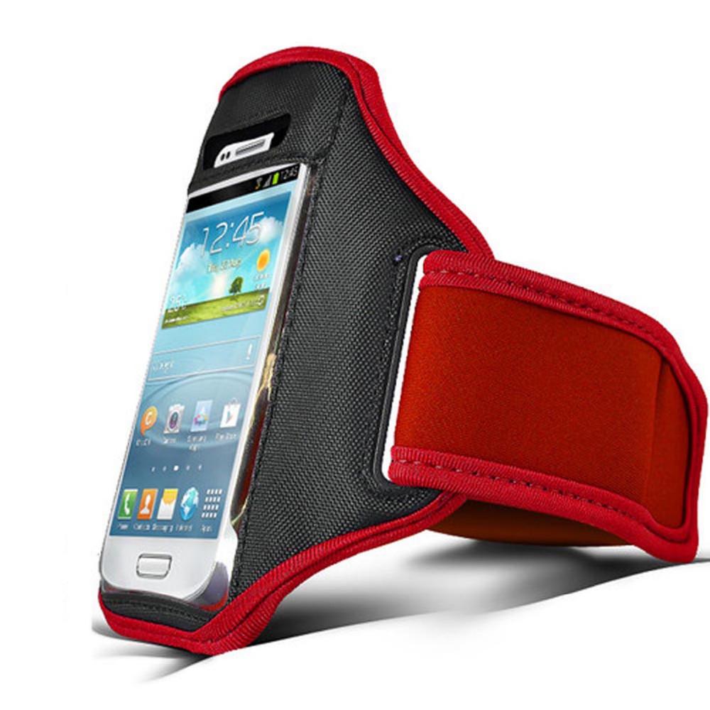 Красный запуск спорт повязки тренажерный зал кожи чехол для мобильного сотового телефона HTC One M9 Ace 5.5