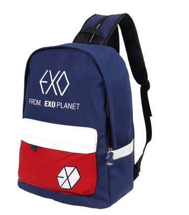 Backpacks Exo Fromplanet Kris Luhan Sehun Canvas Travel Bag Schoolbag Backpack New Luggage & Bags
