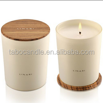 Frosted Glass Jar Candle With Wood Lid Buy Glass Jar