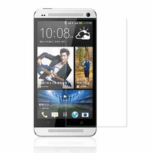 Factory Price 0.33mm 2.5D tempered glass screen protector for htc one M7 free shipping