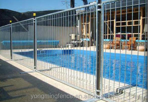 Galvanized Retractable Swimming Pool Fencing View Pool