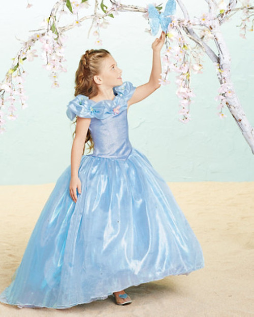 Cinderella 2015 Costumes Girls Dresses Shoes Jewelry: New Cinderella 2015 Cosplay Costume Dress For Girls-in