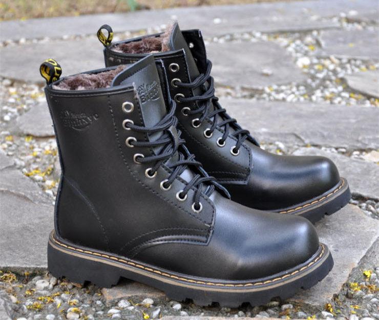 Leather Winter Men's Boots Shoes 2015 Fashion Men Fur