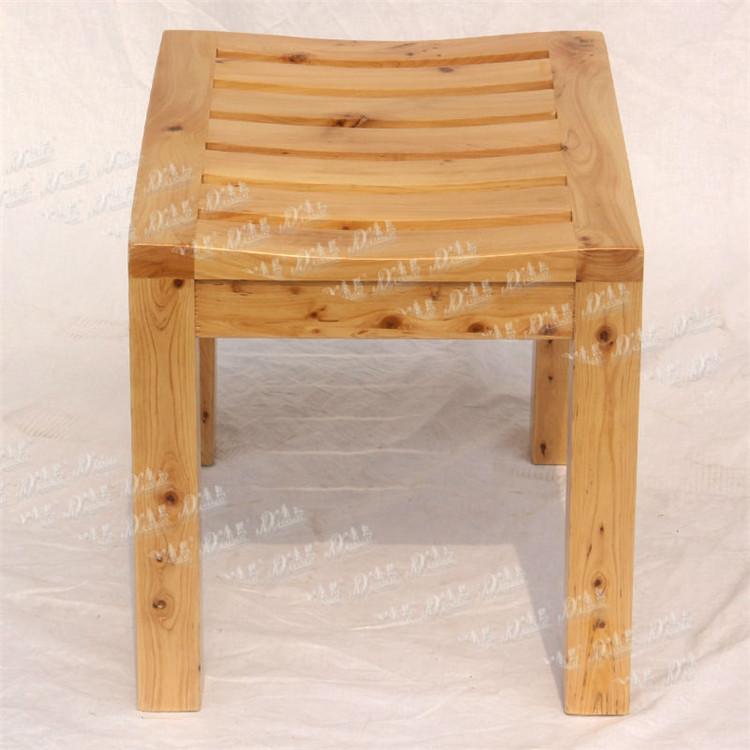 Sitting Stool Wooden Bathroom Stool Adult Portable Stool