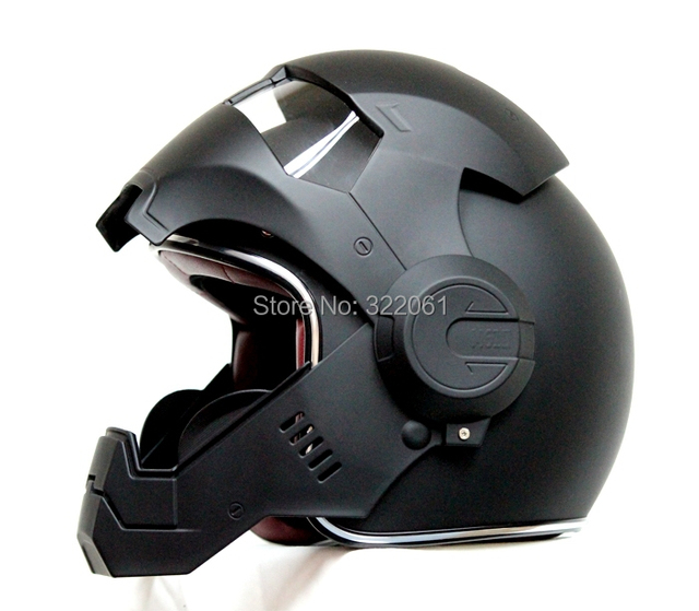 masei matt noir atomique man 610 open face casque de moto bateau libre pour harley davidson dans. Black Bedroom Furniture Sets. Home Design Ideas