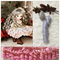15cm Length 100cm Width DIY Wig For Barbie Doll For BJD Doll DIY High temperature Wire